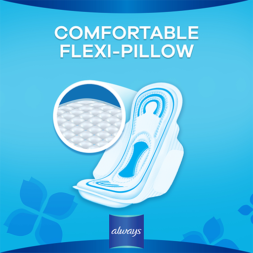 Always Maxi Thick Pads with comfortable flexi pillow