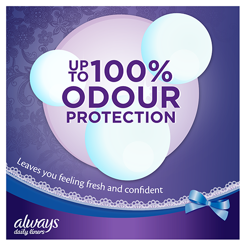 Always Extra Protect Panty Liners provide upto 100% odour protection