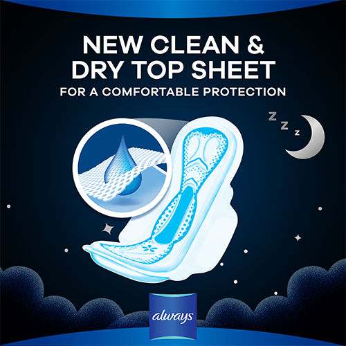 Always Dreamzzz All Night Pads with clean & dry topsheet