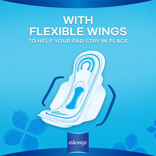 Always Maxi Thick Pads have flexible wings