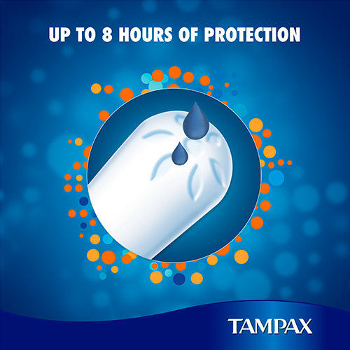 Tampax Cardboard Tampons provide upto 8 hours of protection