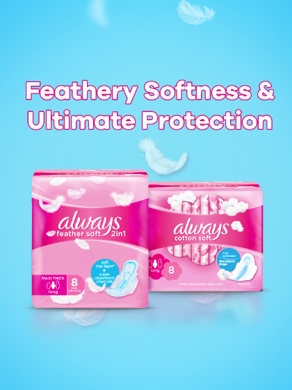 Always Africa sanitary pads for all menstrual needs