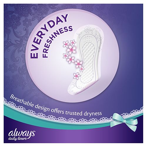 Always Comfort Protect Panty Liners with breathable design