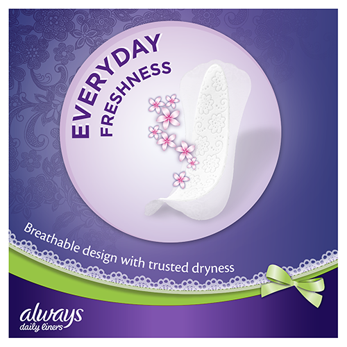 Always Multiform Protect Panty Liners with breathable design