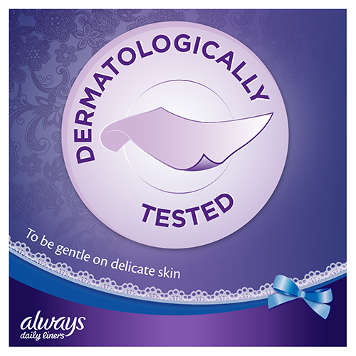 Always Extra Protect Panty Liners with dermatologically tested