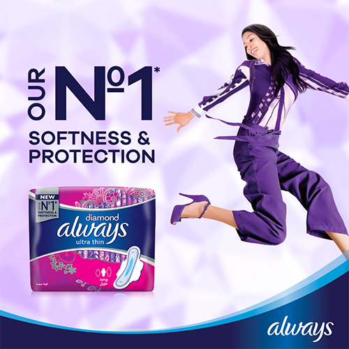 Always Diamond Ultra Thin Pads with softness & protection
