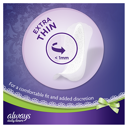Always Multiform Protect Panty Liners are extra thin