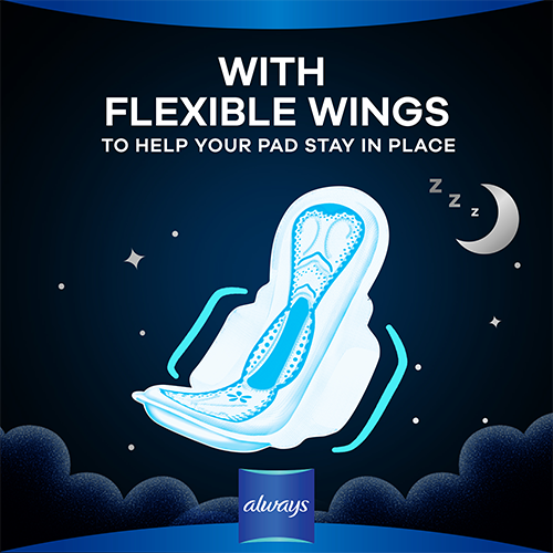 Always Dreamzzz All Night Pads have flexible wings
