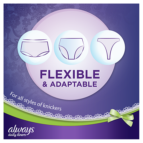 Always Multiform Protect Panty Liners are flexible & adaptable