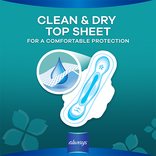 Always Ultra Thin Pads with clean & dry topsheet