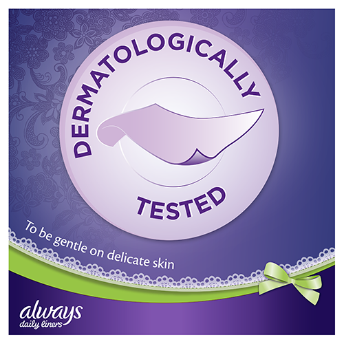 Always Multiform Protect Panty Liners are dermatologically tested