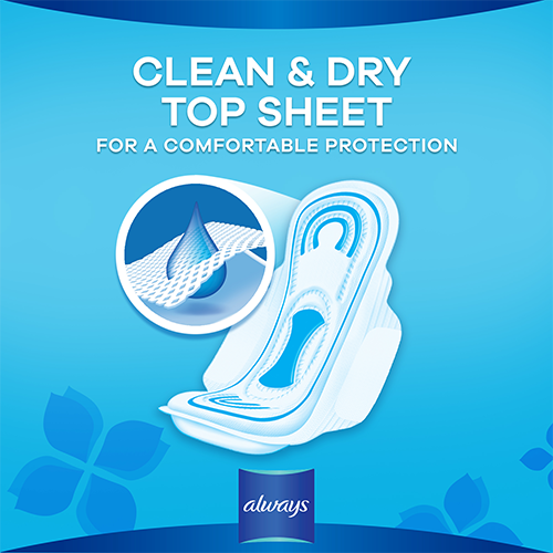 Always Maxi Thick Pads with clean & dry topsheet