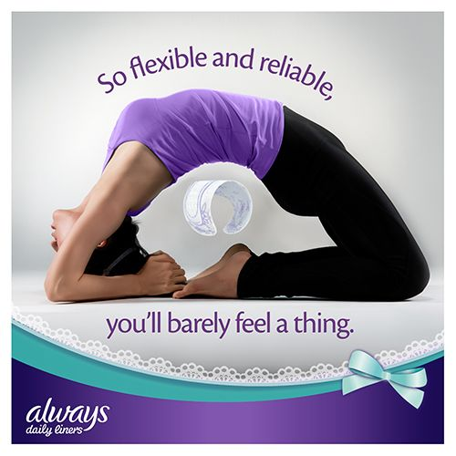 Always Comfort Protect Panty Liners are flexible & reliable