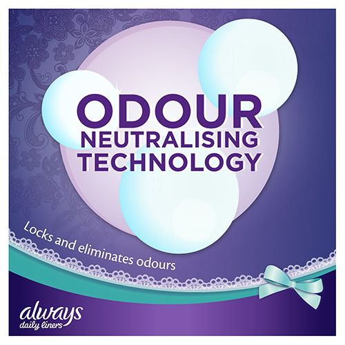 Always Comfort Protect Panty Liners have odour neutralizing technology