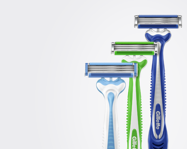Disposable razor family