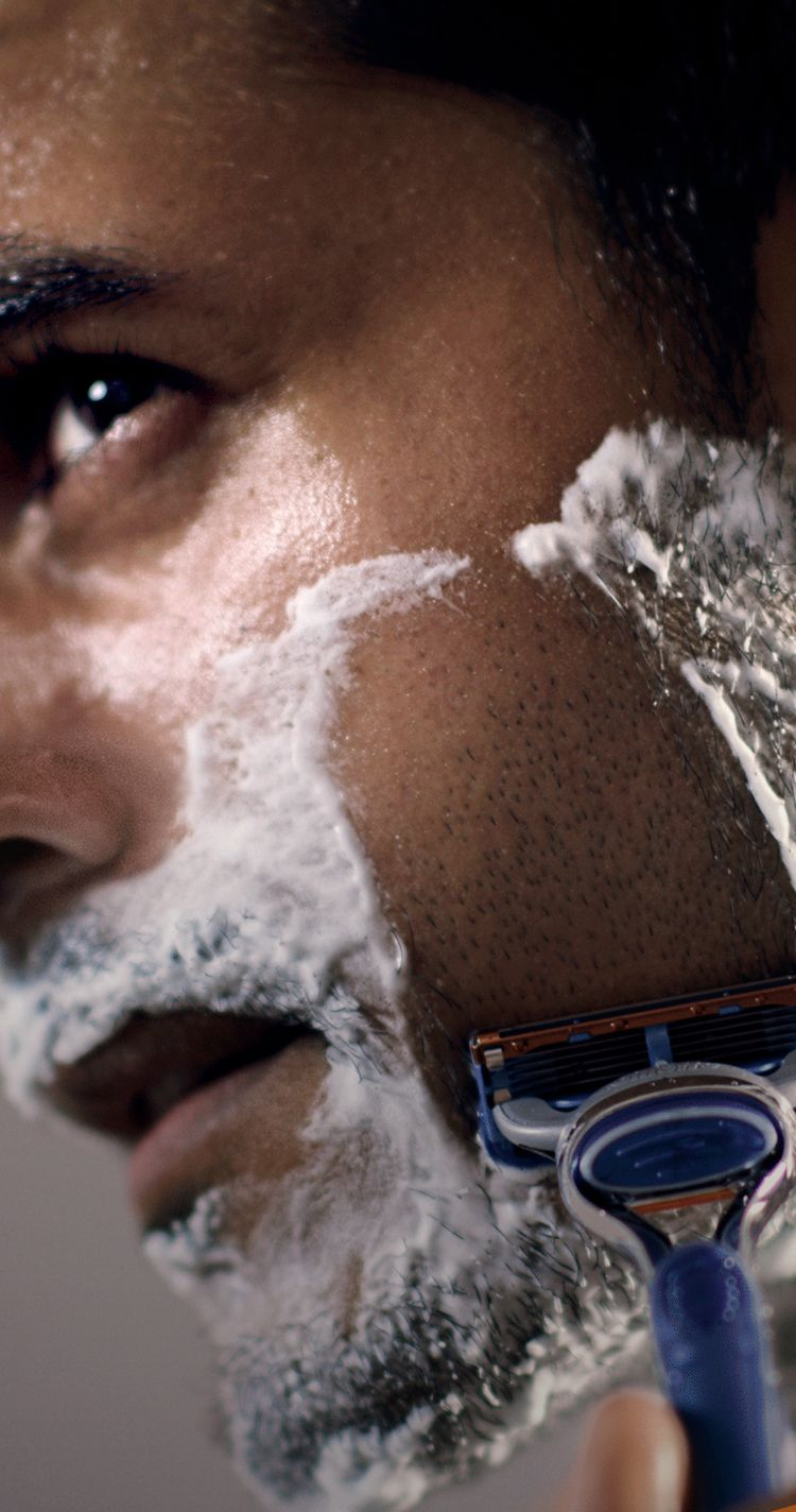 Smooth shave with less irritation