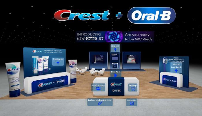 Crest + Oral-B Virtual Convention Booth