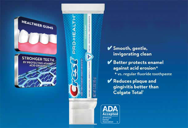 Crest Pro-Health Clean Mint Toothpaste-ADA Approved