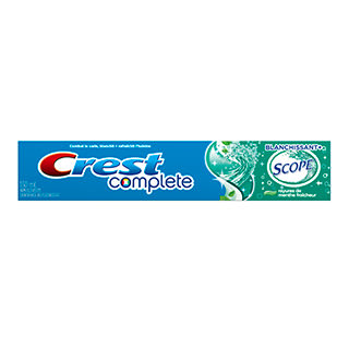 Dentifrice Crest® Complete Blanchissant + Scope®