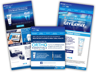 Crest + Oral-B Email Banners