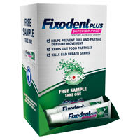 Fixodent Denture Adhesive Gravity Box 50 ct.