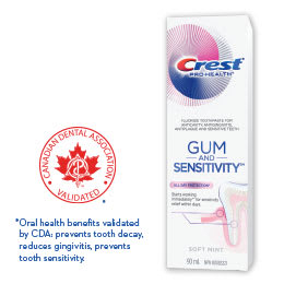 Dentifrice Crest® Gum and Sensitivity™ Protection Toute La Journée