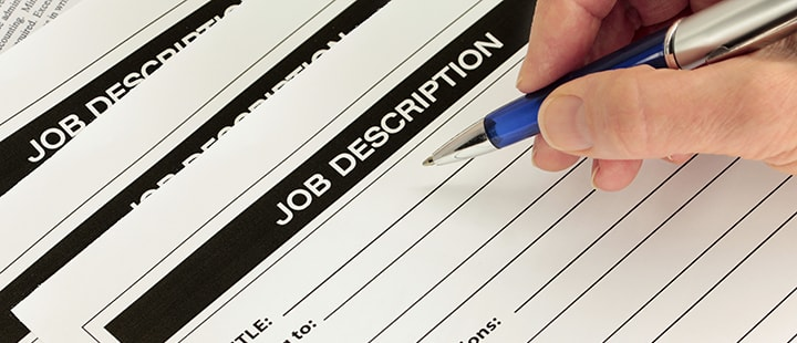 Writing a dental job description