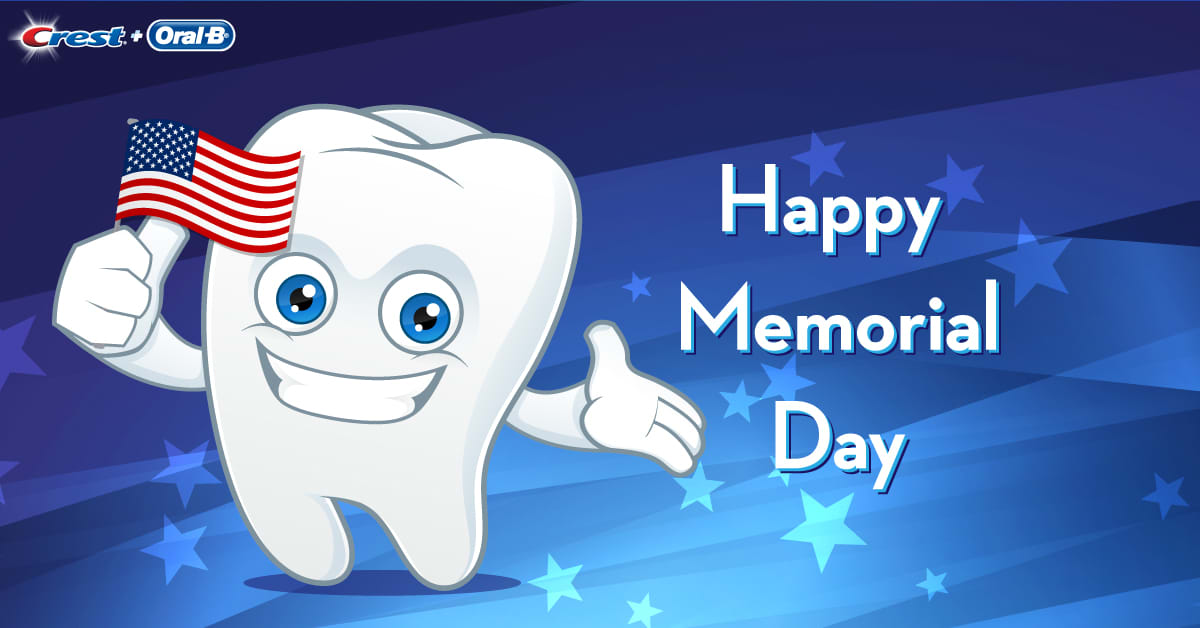 Memorial Day 2017 patriotic tooth