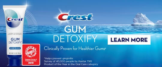Crest Gum Detoxify Toothpaste - Product of the Year.
