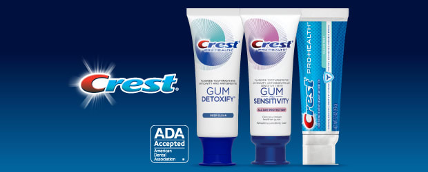 Crest Toothpastes are accepted by the ADA
