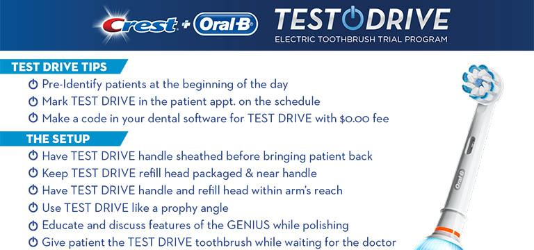 Oral-B Test Drive Electric Rechargeable Toothbrush Trial Program