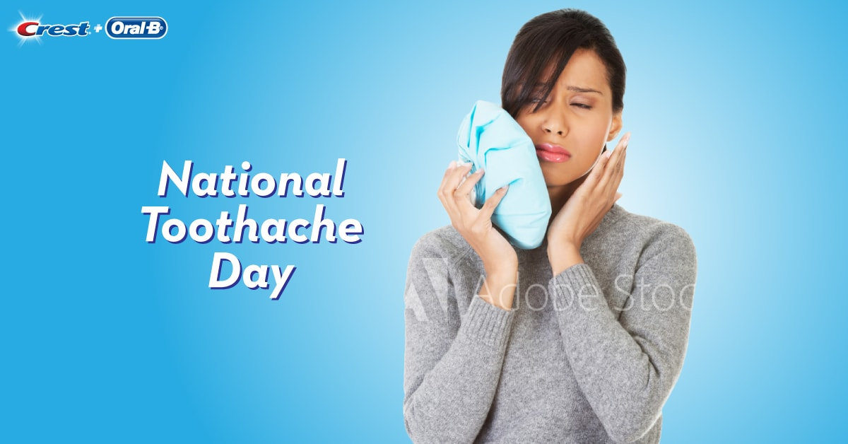 National Toothache Day 2017 woman in pain
