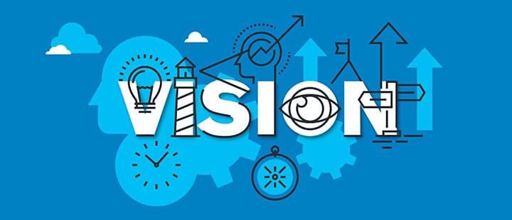 Graphic with the word Vision