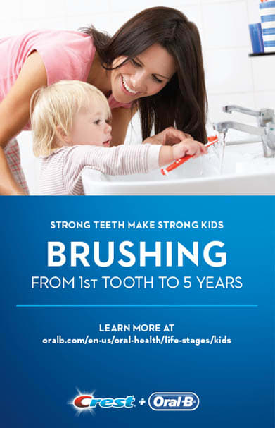 Brushing From First Tooth to 5 Years