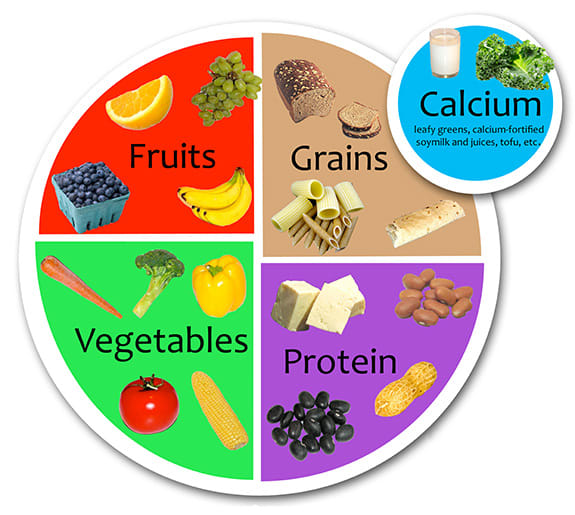 Diagram of Vegan Plate