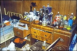 Image: Meth lab set up.
