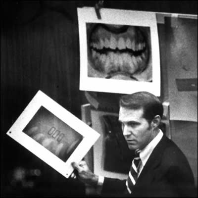 Dr. Richard Souviron presents evidence at Ted Bundy's appeal trial - Tallahassee, Florida.