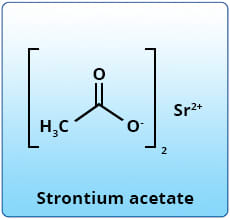 Diagram showing Strontium acetate.