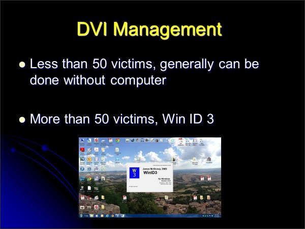 mage showing DVI management options