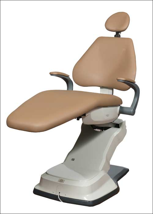 Thin back patient dental chair