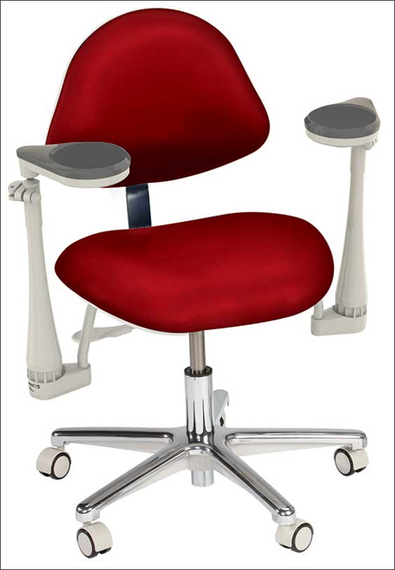 Operator stool with Elbow support
