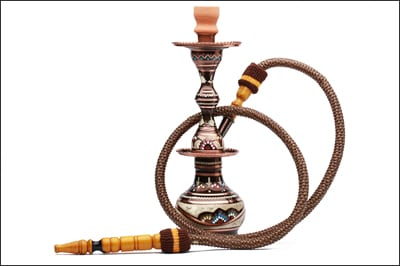 Photo showing an example of hookah pipe