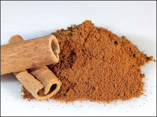 Photograph showing ground and stick cinnamon