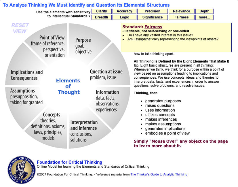 Elements of Reasoning Interactive Tool
