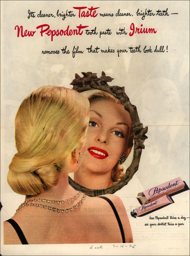 Vintage Look Magazine ad for a whitening toothpaste