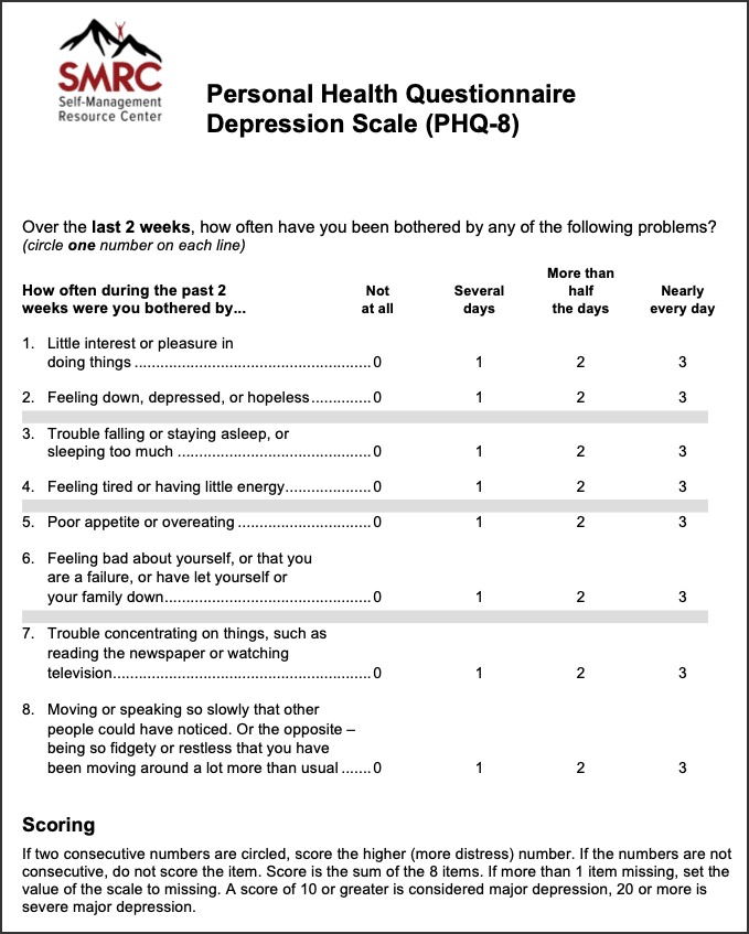 Simplified Screening Tool for Depression/Anxiety