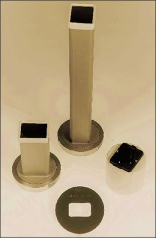 Photo showing examples of rectangular collimators