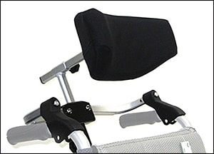 Photo showing wheelchair head and neck support