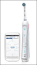 Photo showing Oral-B PRO 5000 power toothbrush with Bluetooth connectivity