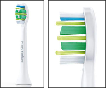 Photo showing a Sonicare Intercare sonic brush head